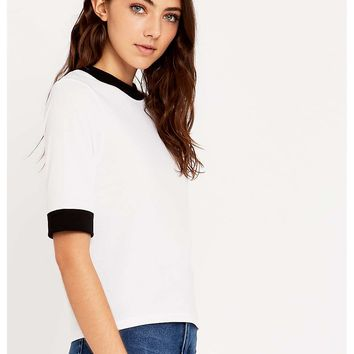 Urban Outfitters Large Cuff Ringer Tee - Urban Outfitters