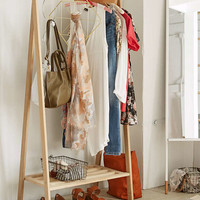 Wooden Clothing Rack | Urban Outfitters