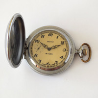 Vintage Russian Pocket Watch MOLNIJA