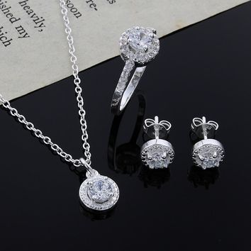 Noble Silver Fashion Jewelry Set