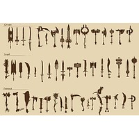 ANCIENT WEAPONS POSTER Rare Hot New COLLECTOR 24x36-PW0