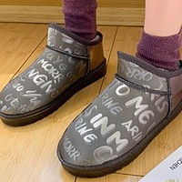 New fashion short tube thick one-step warm winter boots shoes