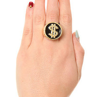 Accessories Boutique Ring Dollar Sign in Heavy Gold