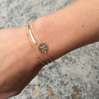 Delicate Zodiac Bracelet Gold, Silver or Rose Gold / Horoscope Gold Bracelet Scorpio / Personalized Dainty Gold Bracelet Astrological Sign