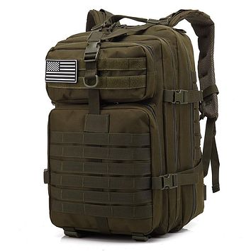 Tacticle Backpack 45L Large Capacity Man Army Tactical Backpacks Military Assault Bags Outdoor 3P EDC Molle Pack For Trekking Camping Hunting Bag