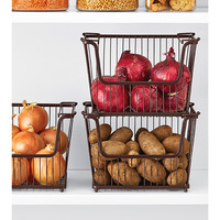 The Container Store > Small York Open Stack Basket