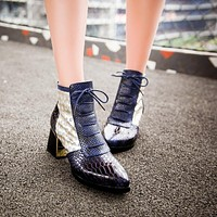 Snake Pattern High Heels Boots Women Shoes Fall|Winter 11191501