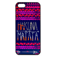 HAKUNA MATATA Apple iPhone 5 Case or 4s/4 Case Cover
