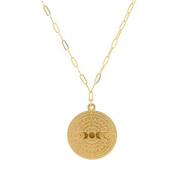 Lunar Phases Coin Necklace
