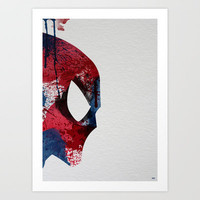 Super Heroes Painted: Spider-man Art Print by Arian Noveir