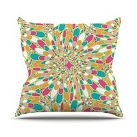 "Kess InHouse Miranda Mol ""Flourishing Green"" Throw Pillow, 20"" by 20"", Green Multicolor"