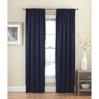 "Eclipse Solid Thermapanel Room-Darkening Curtain, Navy, 54"" x 84"""