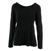 Eileen Fisher Womens Knit Scoop Neck Pullover Top
