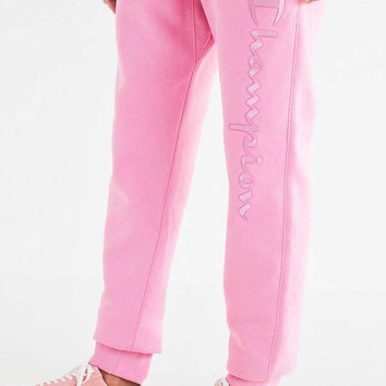 Champion & UO Reverse Weave Script Jogger Pant   Urban Outfitters