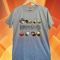 Lord of the cats,Lord of the rings, New Hot T-shirt Gildan G200L Woman and Mens Sport grey Size S-M-L-XL-XXL
