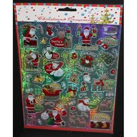 100 Christmas Laser Stickers (2 Sheets of 50 Stickers Ea)