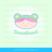 OOAK Premade Logo Design - Sweetland - Perfect for a sweets and candy shop