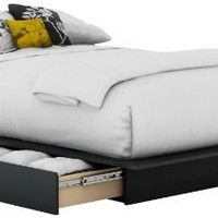 My Associates Store - South Shore Step One Collection Storage Platform Bed, Black