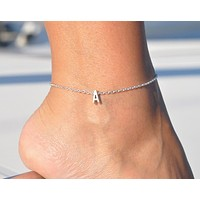 Capital Letter Anklet (Gold/Rose Gold/Silver)
