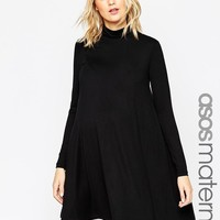 ASOS Maternity | ASOS Maternity Swing Dress With Turtleneck at ASOS