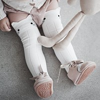 Soft Cotton Kawaii Girls Boys Sock Cartoon Animals Sock Fox Cat Lion Elephant Pattern Kids Socks born Toddler Baby Long Socks