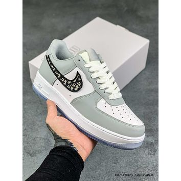 NIKE OFF-WHITE x Air Force 1 OW Versatile casual sports board shoes