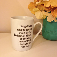 Harry Potter Mug, Dumbledore Quote, Painted Coffee Mug, Painted Mug, Gift Ideas, Quote Mug, Harry Potter Gift
