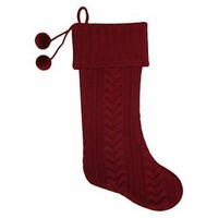 Red Cable Knit Christmas Stocking - Wondershop™