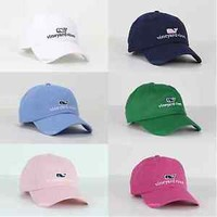 Vineyard Vines Whale Logo Golf Baseball Cap Hat For Unisex & Adults One Size