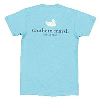 Authentic Tee in Washed Barbados Blue by Southern Marsh