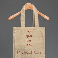 Michael Kors   Cotton Tote with Pocket   Skreened