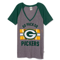 Green Bay Packers V-neck Tee - PINK - Victoria's Secret