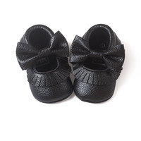 Cute New Baby Girls Soft Soled PU Leather Shoes Toddler Infant Moccasin 0-18Months First Walkers