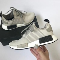 adidas women running sport casual shoes nmd sneakers grey-1
