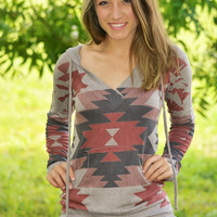 Aztec Sky Hooded Tunic