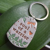 Soul of a warrior Word Key Chain