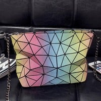 issey miyake Rainbow package noctilucent geometry  Crossbody Satchel Shoulder Bag