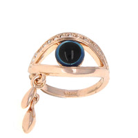 Dear Deer Rose Gold Evil Eye CZ Pave Cocktail Ring