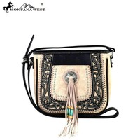 MW317-8287 Montana West Tooled Collection Crossbody Bag