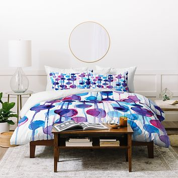 CMYKaren Abstract Watercolor Duvet Cover