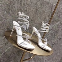 RENE CAOVILLA Women Fashion Casual Low Heeled Shoes Sandals Shoes