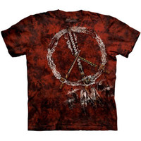 RED PIPES The Mountain Native American Indian Peace Sign T-Shirt S-3XL NEW
