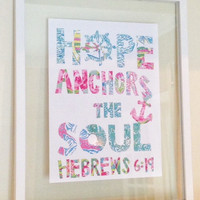 "Lilly Pulitzer Quote Print in Glass Float Frame 16""x20"""