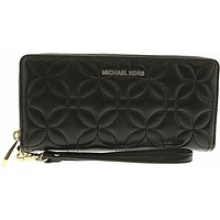 Michael Kors Quilted Floral Travel Continental Wallet Bags,