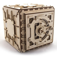 Wooden Safe - Ugears Mechanical 3D Puzzle Brainteaser