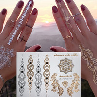 Henna Jewelry Metallic Temporary Tattoos Body Art