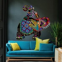 Full Color Wall Decal Mural Sticker Decor Art Floral Elephant Gift Ganesh Dagger Om Africa Tribal Buddha Bedroom Office Dorm Mcol12