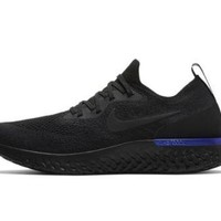 Nike Epic React Flyknit Triple Black Racer Blue- Size-12