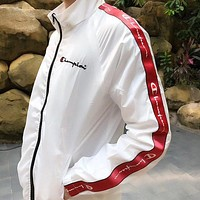 Champion Woman Men Fashion Print Cardigan Jacket Coat Windbreaker