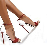 Stiletto High Heels Open Toe Ankle Wraps High Heel Sandals Party Shoes